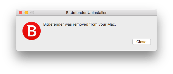 bitdefender was removed