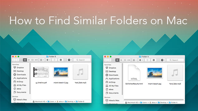 Clean up Similar Folders with Duplicate File Finder