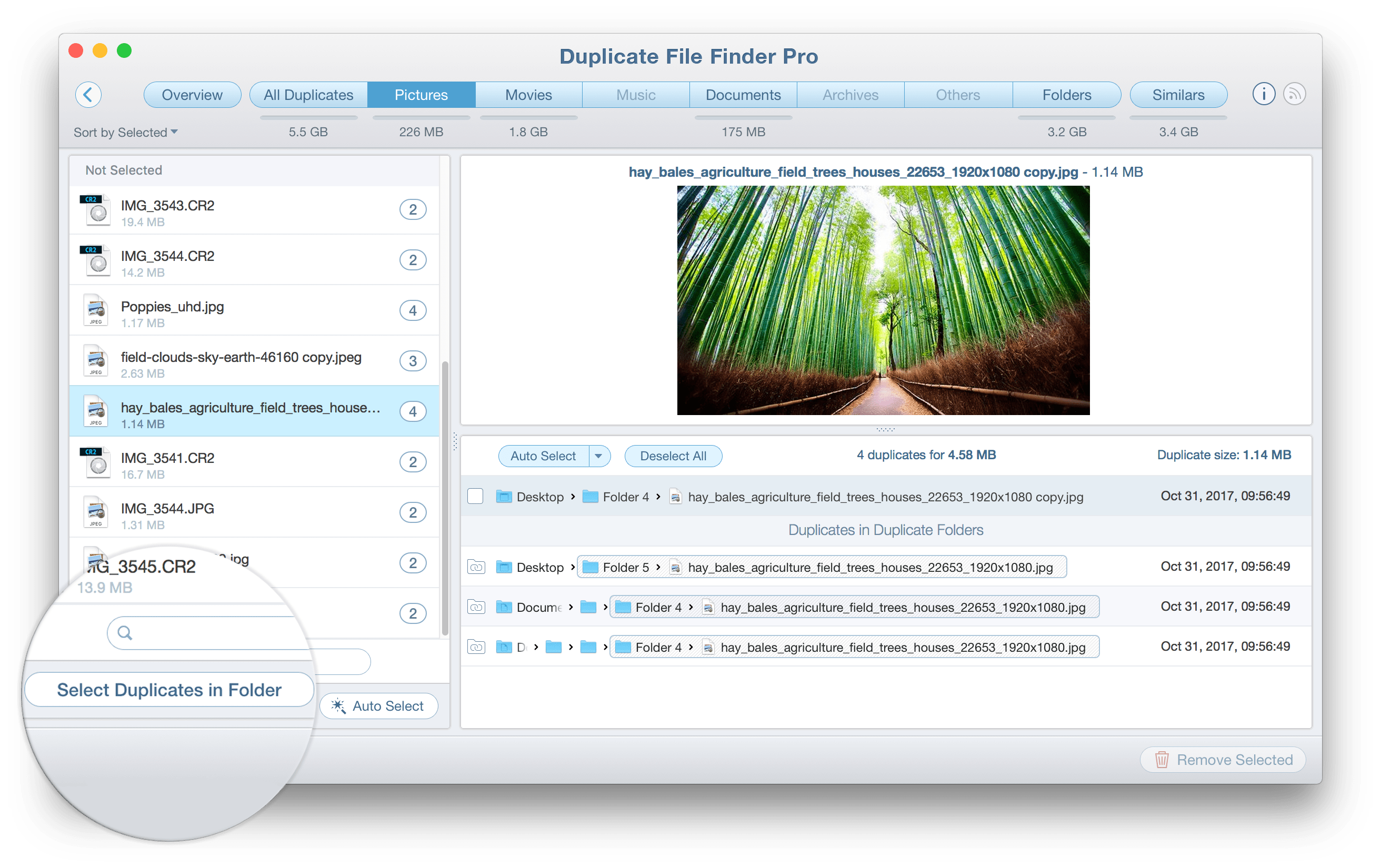 remove duplicate files mac free