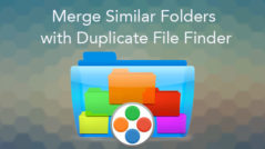 How to merge similar folders with Duplicate File Finder