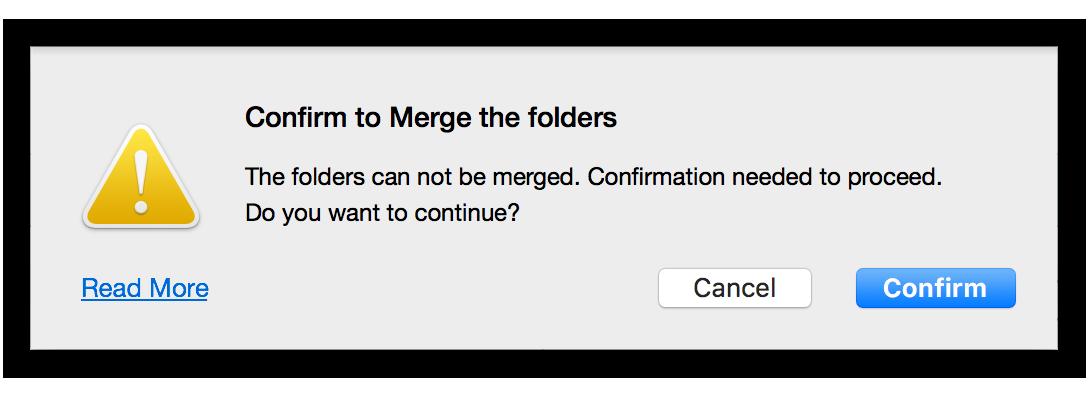 merge folders mac