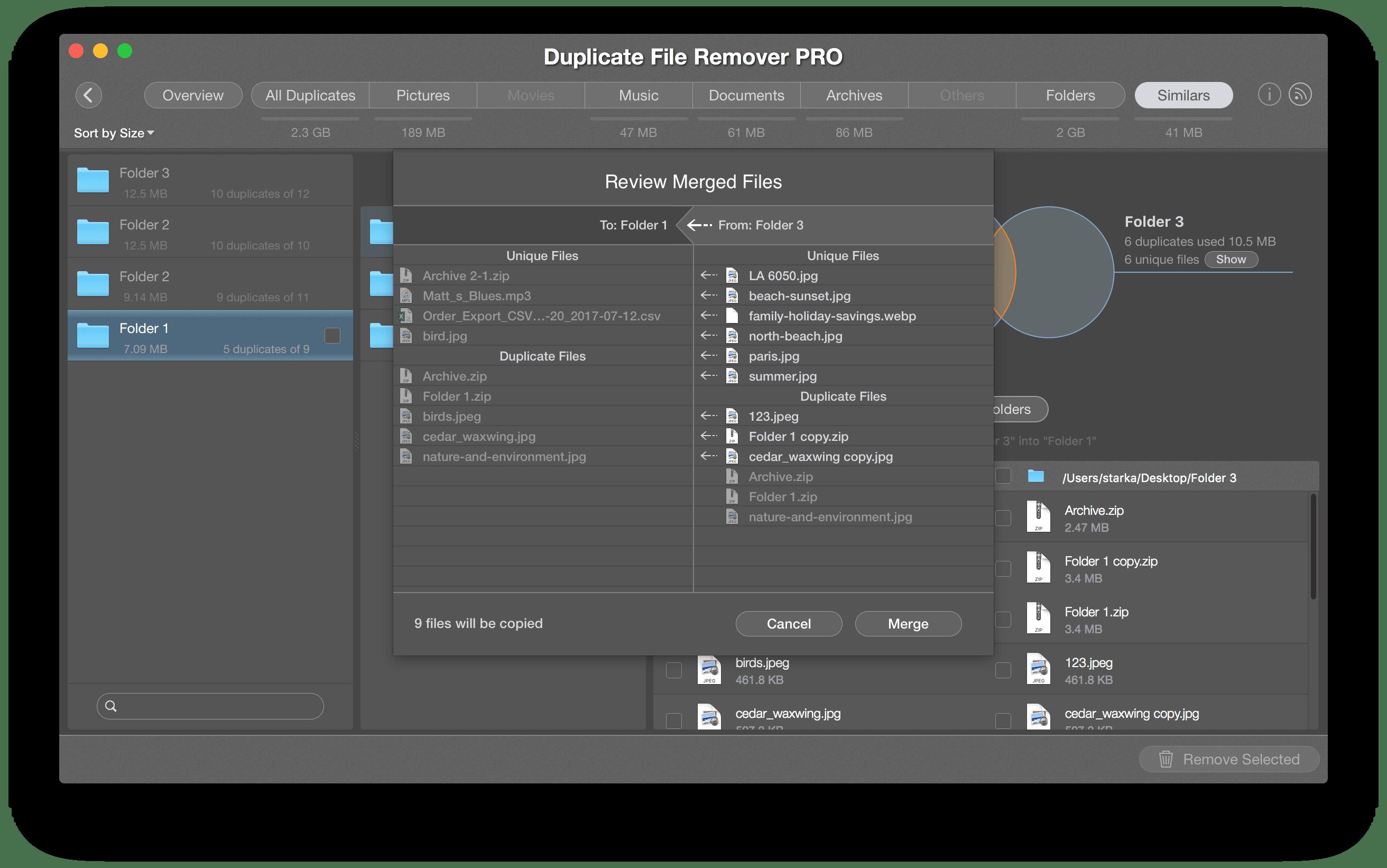 merge folders on NTFS disk