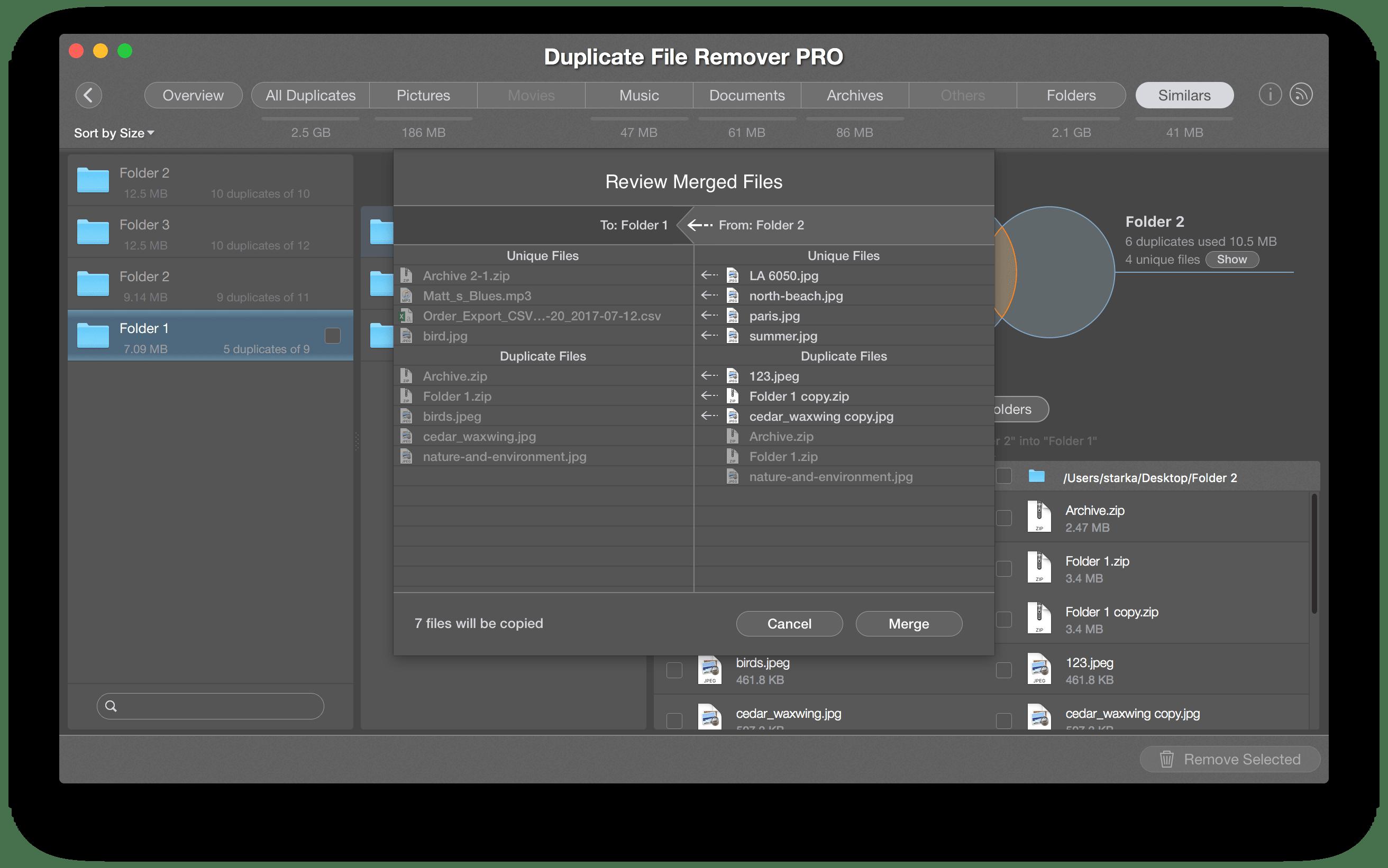 merge folders - complete