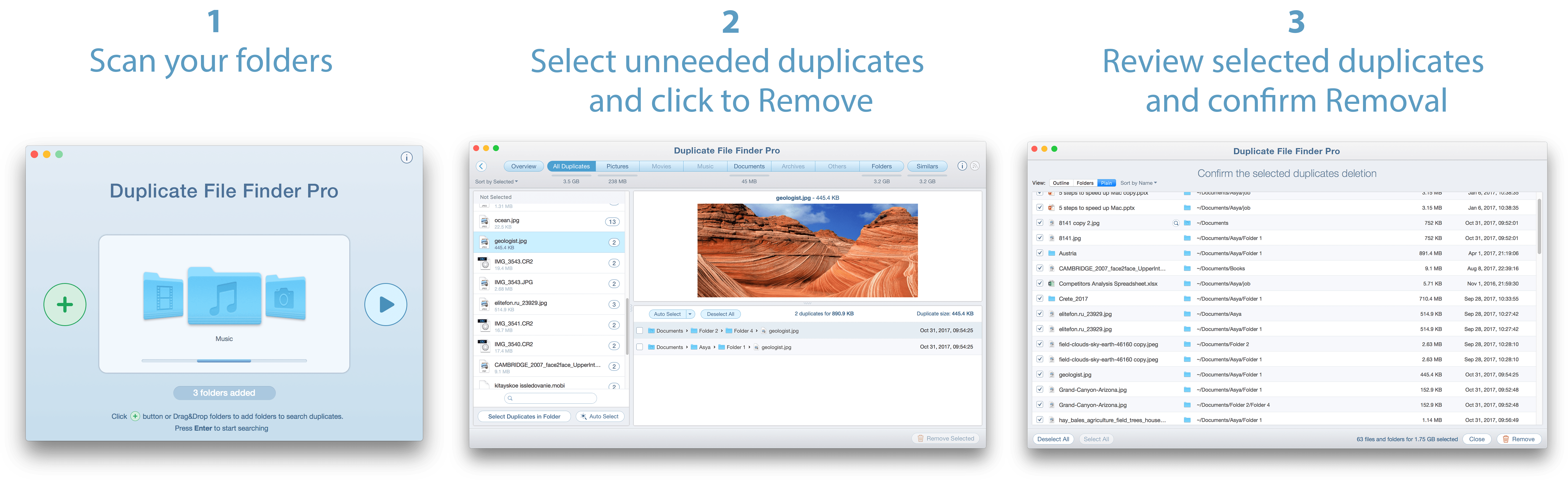 Duplicate File Finder - Question about Duplicates Removal