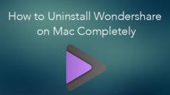 Uninstall Wondershare on Mac
