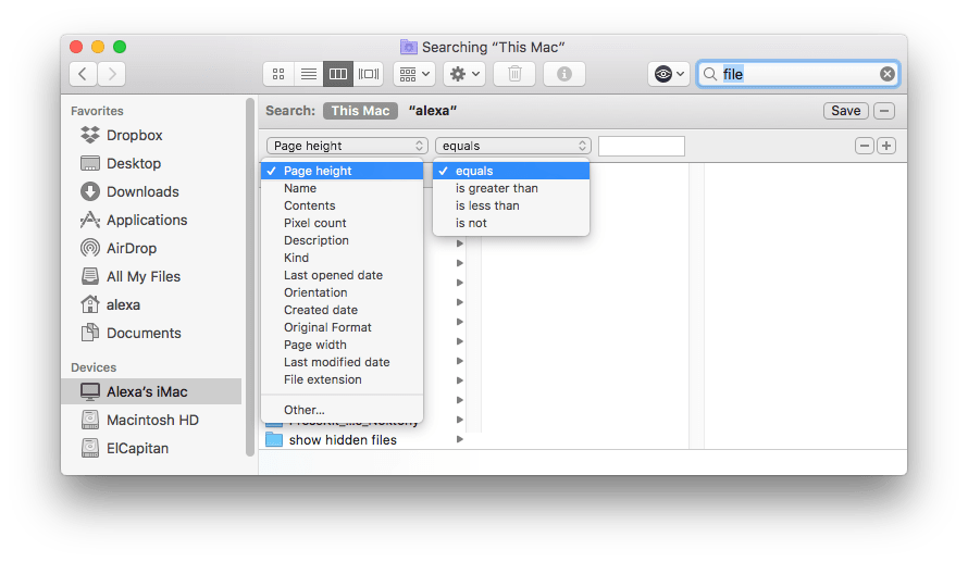 Parameters in Smart Folder