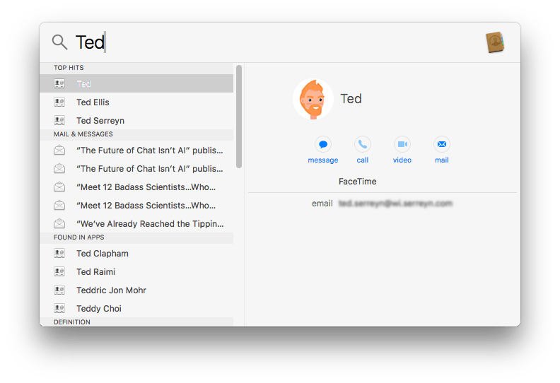 how to use spotlight search