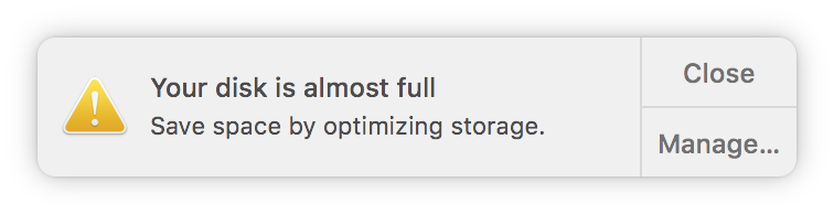 What does it mean when your Mac says the disk is full?