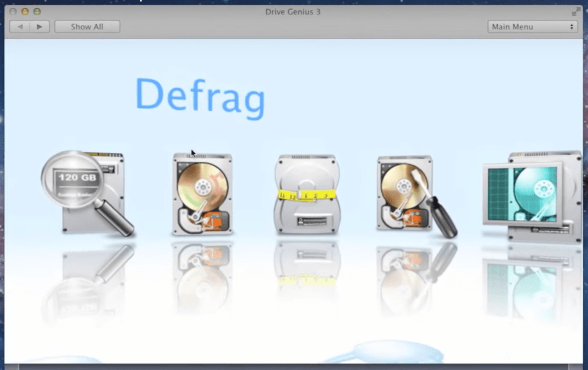 Fragmented and defragmented disks
