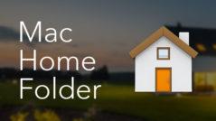 mac home folder