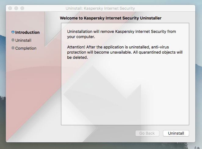 Uninstall Kaspersky on Mac