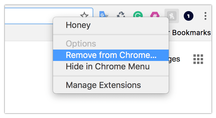 Remove chrome extenstions