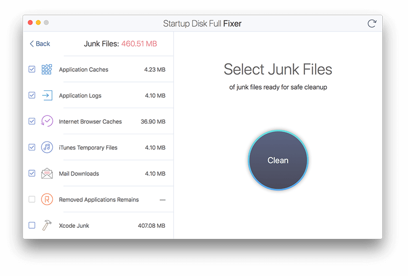 Disk space cleaner app