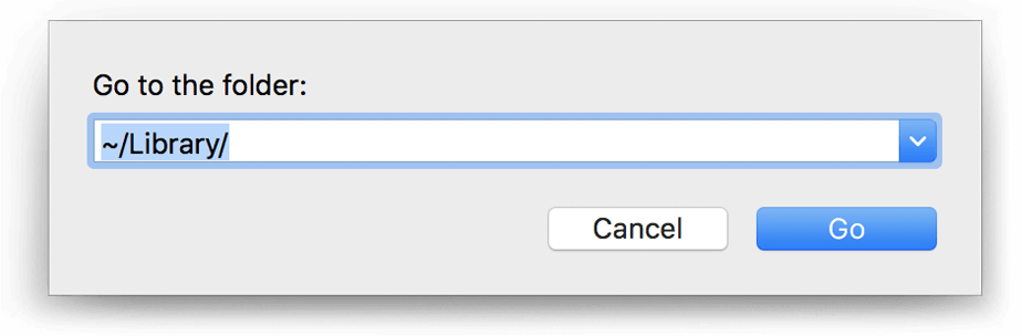 Go to Folder search field in Finder
