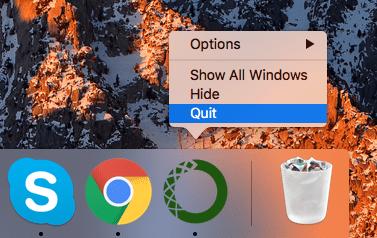 Quit anaconda app