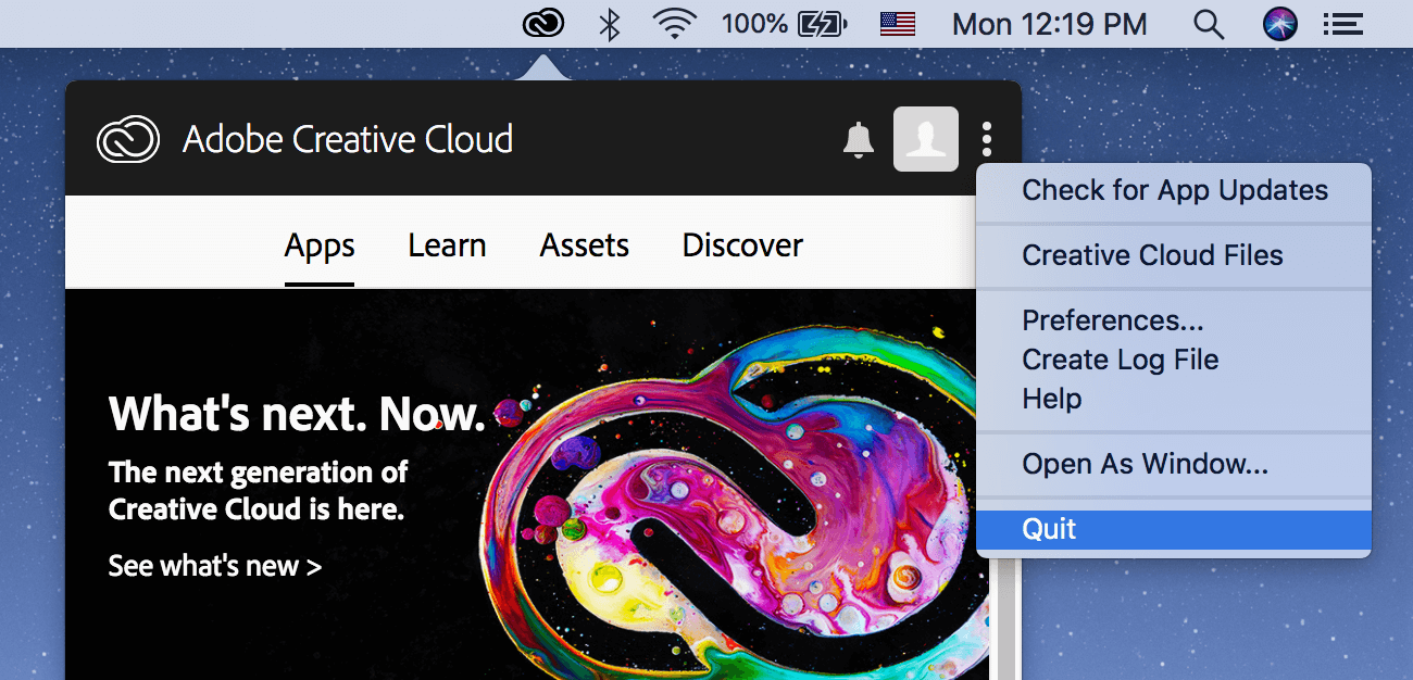 adobe creative cloud create log file
