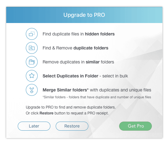 upgrade duplicate finder