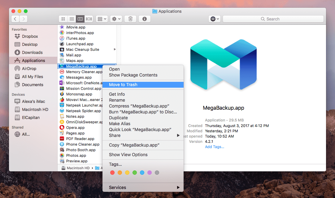 what is megabackup on mac