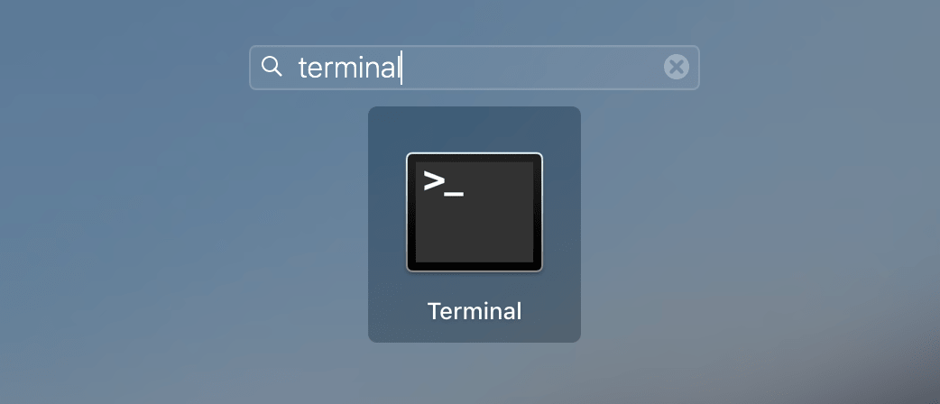 Terminal icon in Launchpad