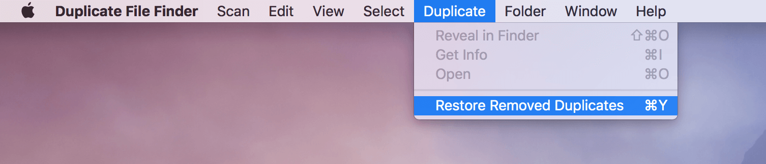 duplicate file finder - history