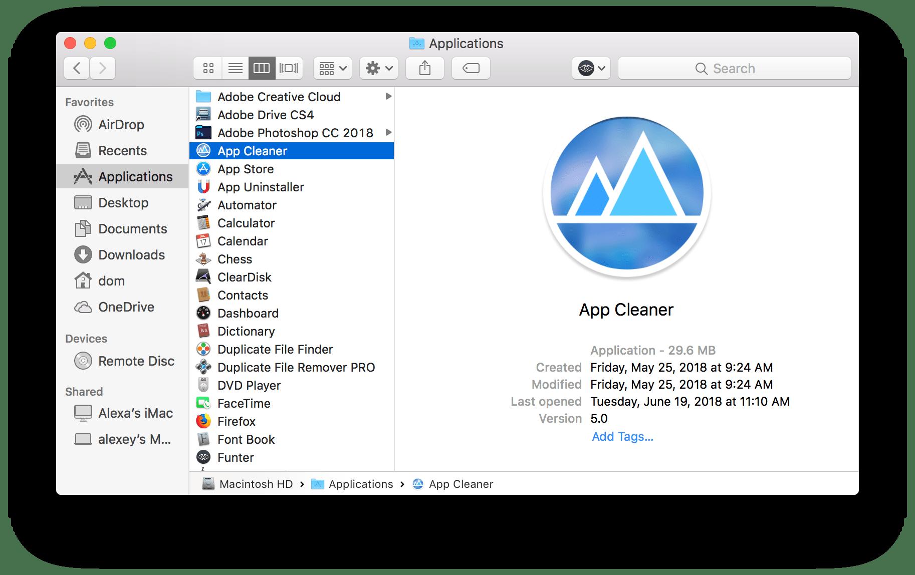 app cleaner app
