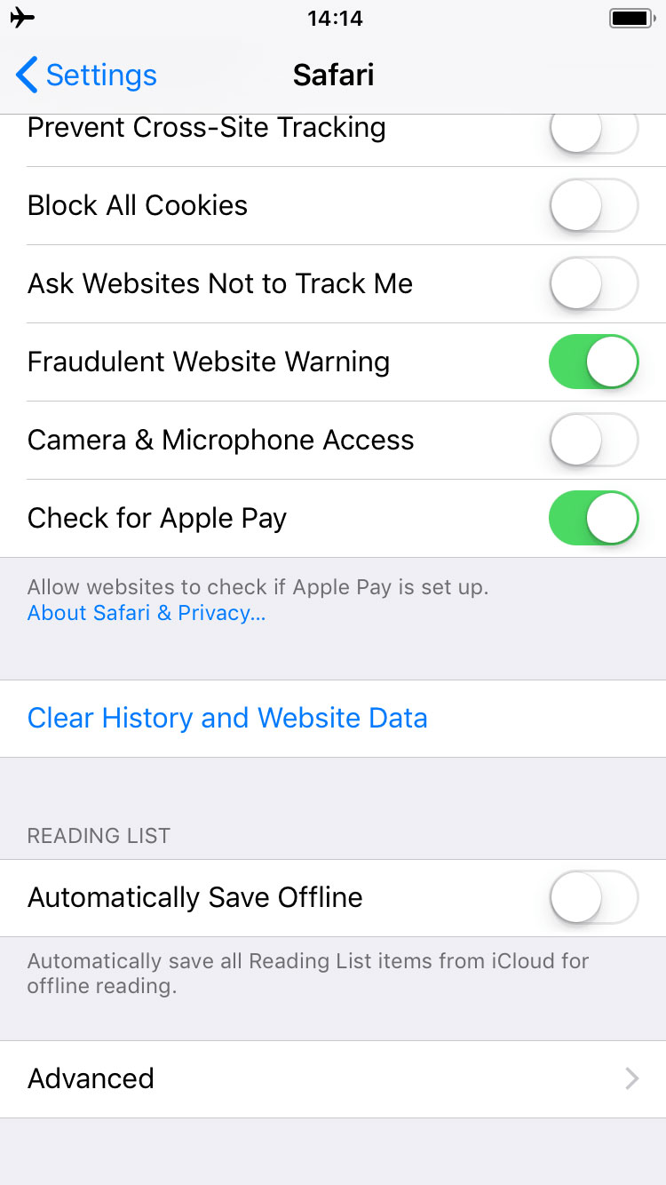 clear app cache iphone