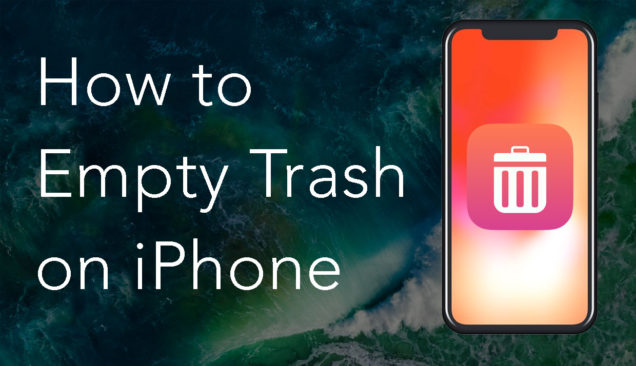 how to empty trash on iphone