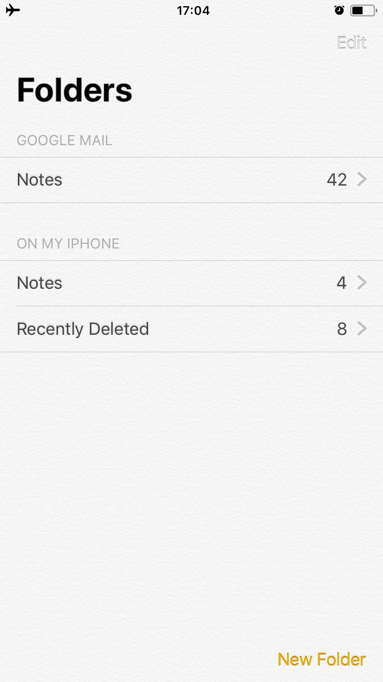 Delete Notes iPhone
