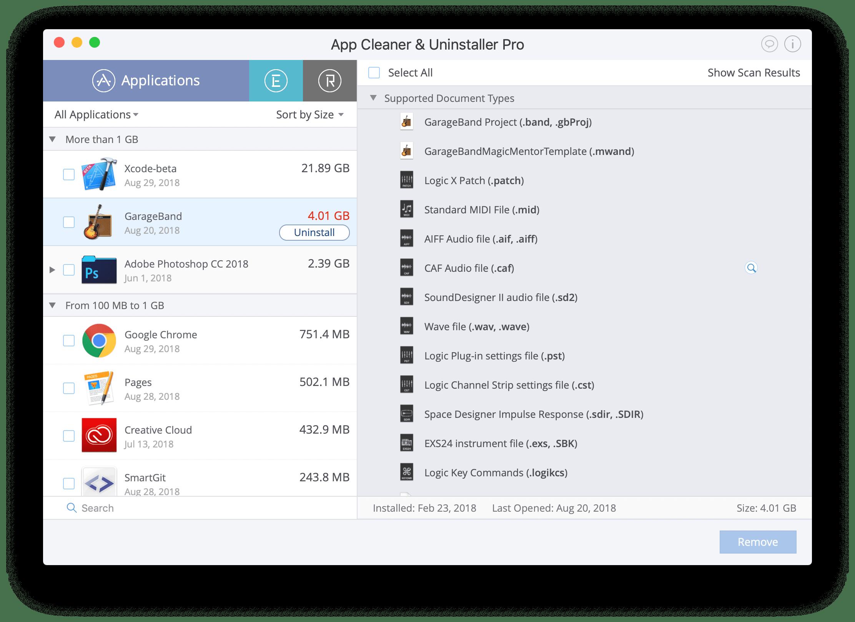 app uninstaller - support files