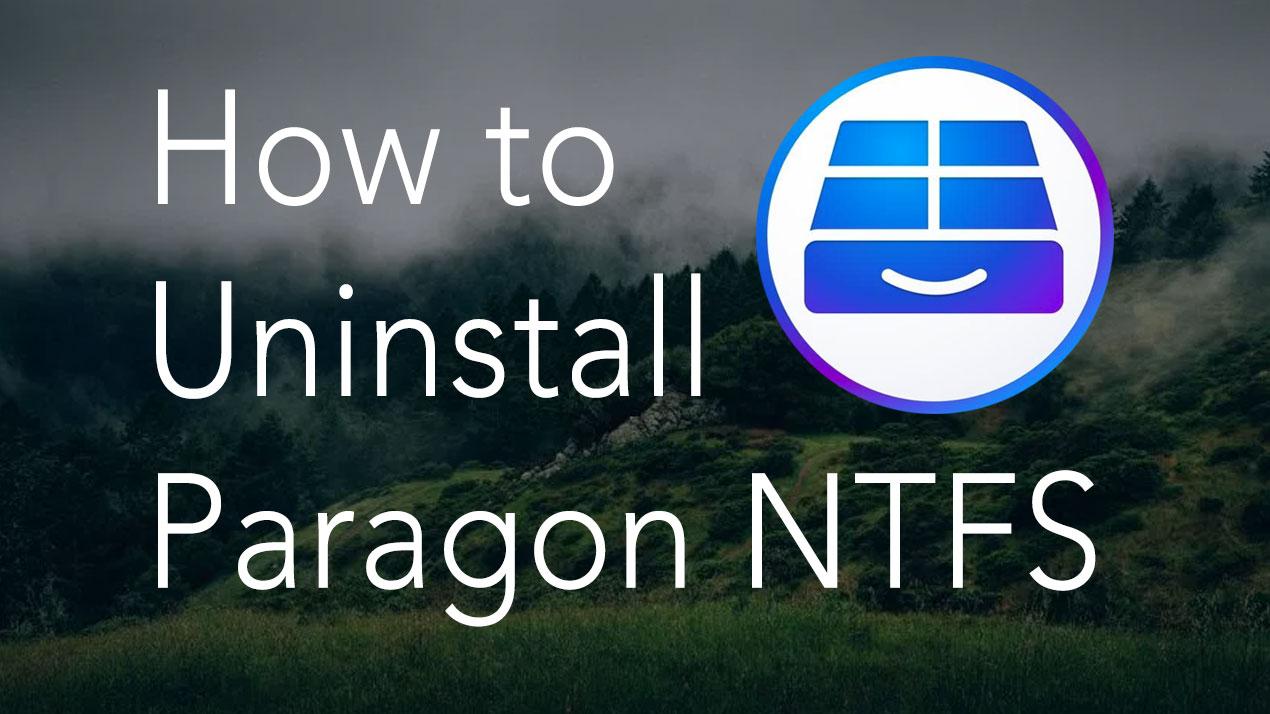 Uninstall Paragon NTFS for macOS