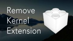 How to Uninstall Kernel Extensions