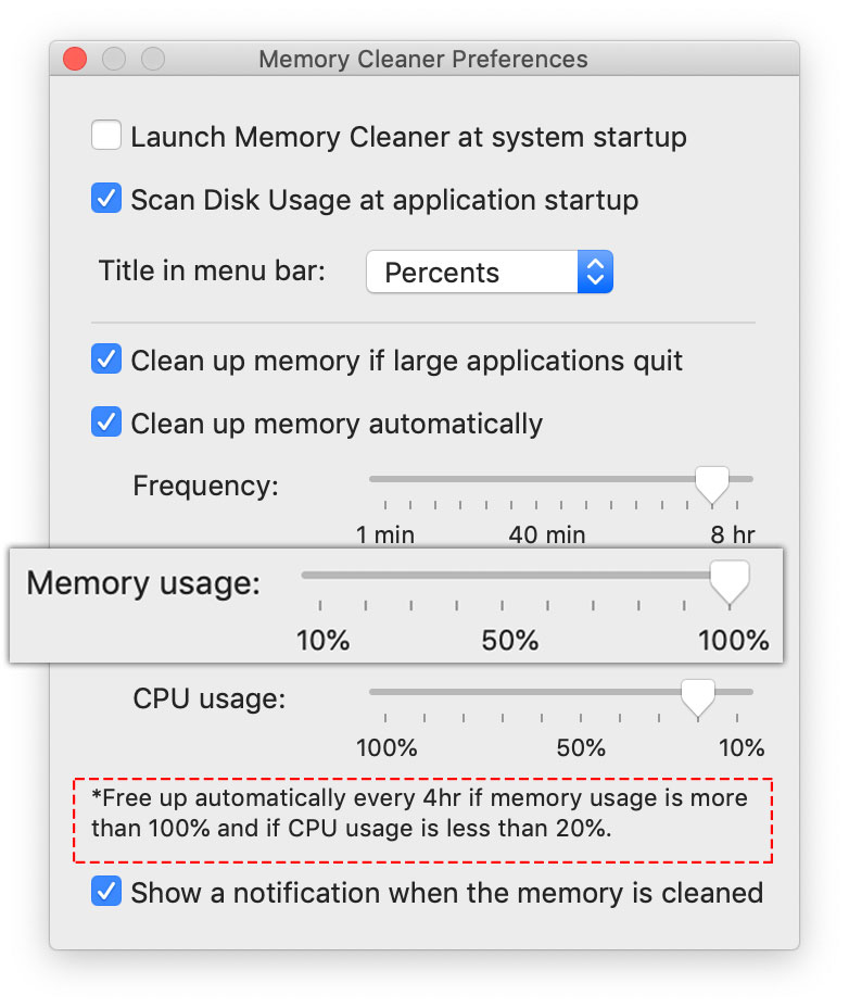 frequent memory cleanup