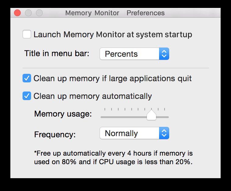 memory free up