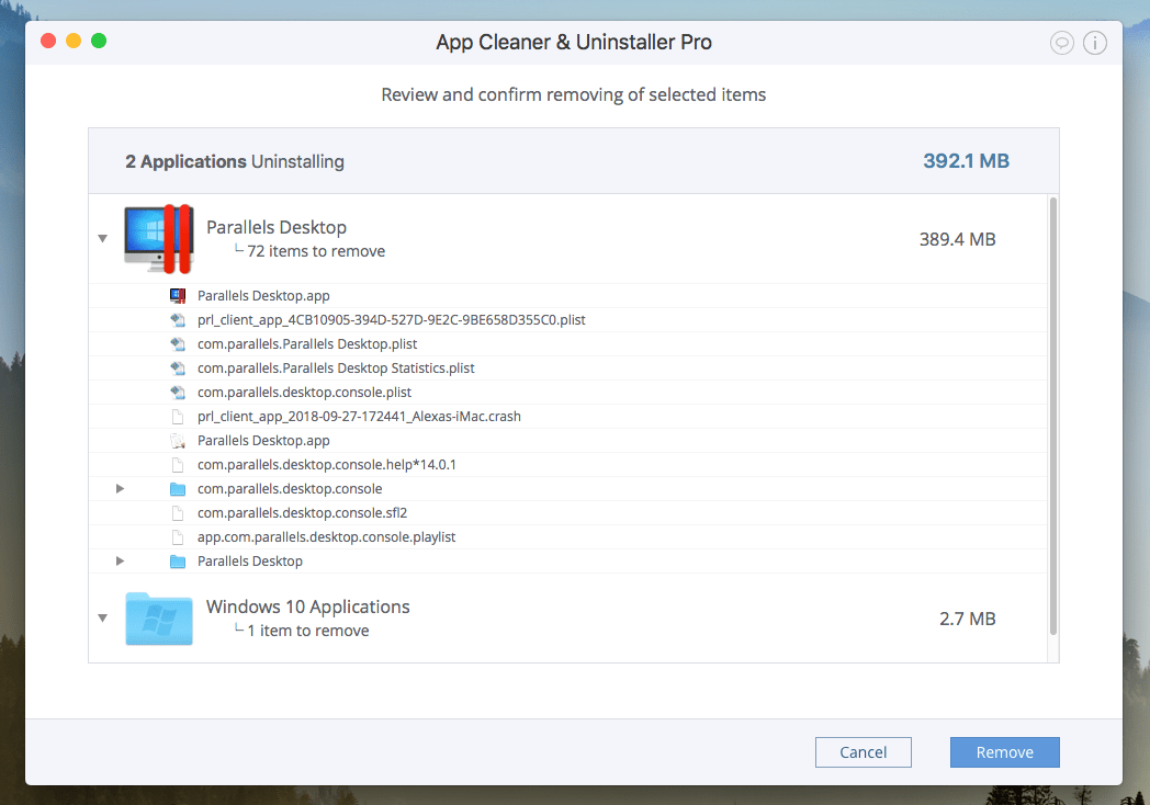 how to uninstall parallels on mac without cd