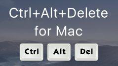 How to Control-Alt-Delete on Mac