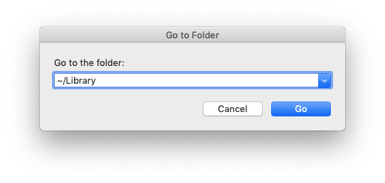 Go to folder search field with Library query