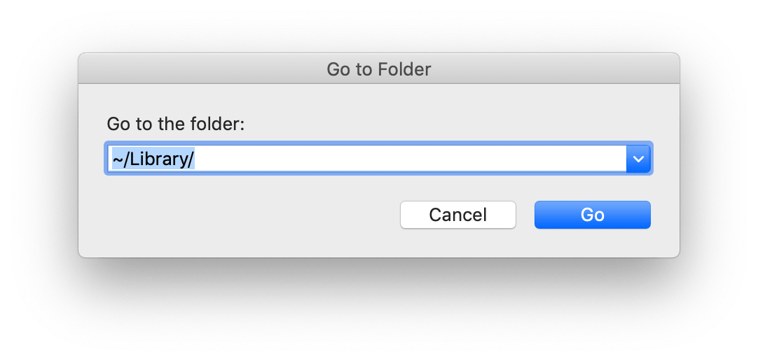 Go to Folder window