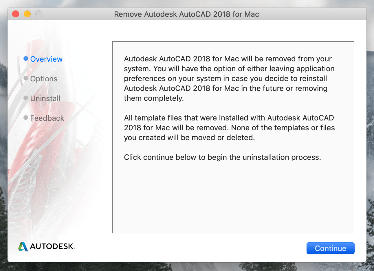 Remove Autodesk AutoCAD window