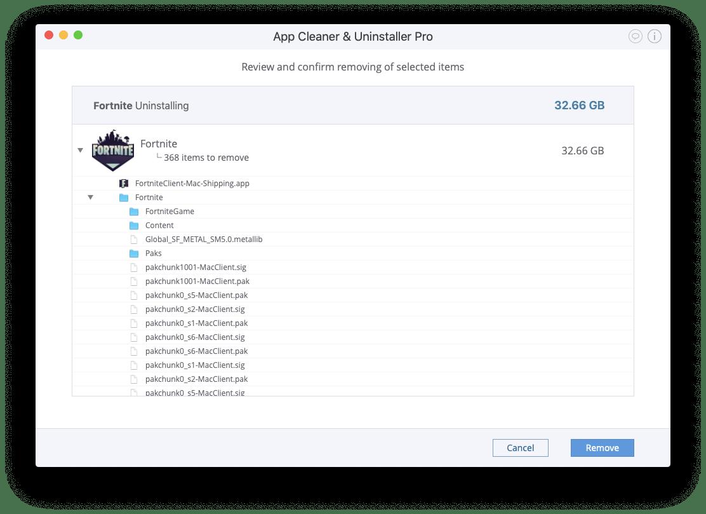 Uninstall Fortnite on a Mac