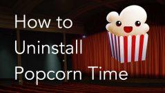 Uninstall Popcorn Time on a Mac