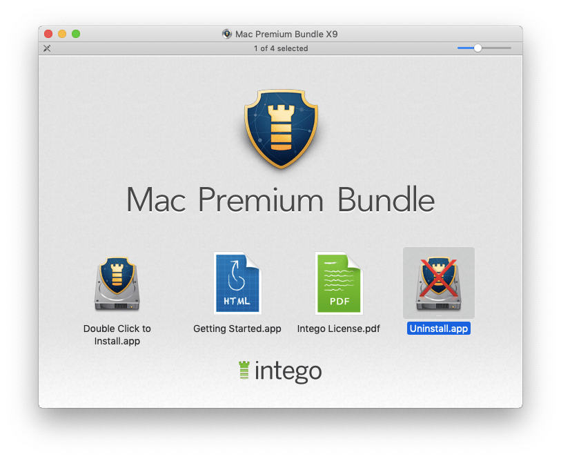 mac premium bundle window with uninstaller selected