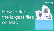 How to find the largest files on macOS