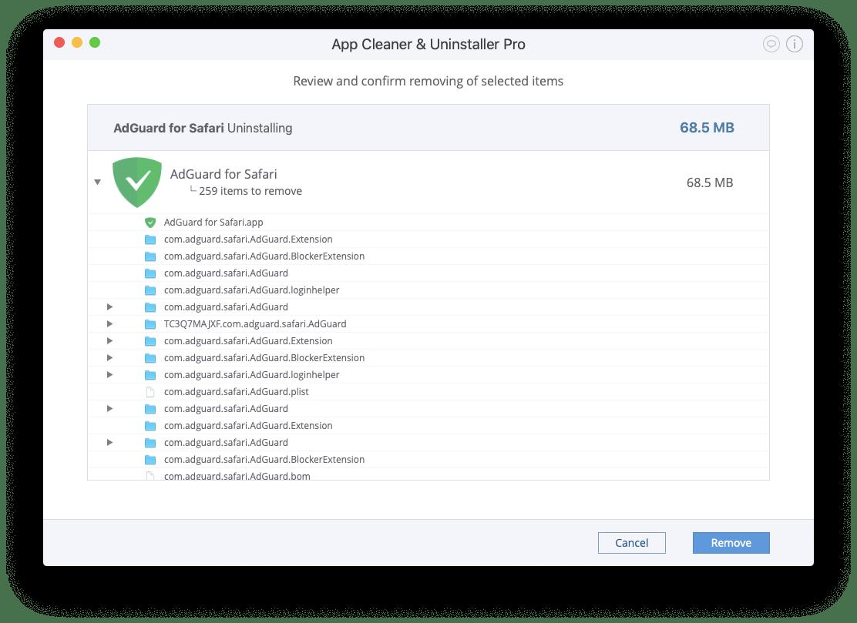 Uninstall AdGuard Extension for Safari