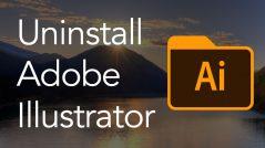Uninstall Adobe Illustrator on Mac