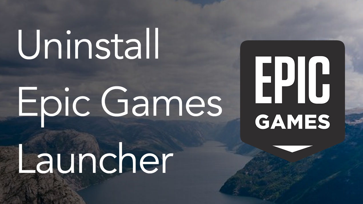Uninstall Epic Games Launcher on a Mac