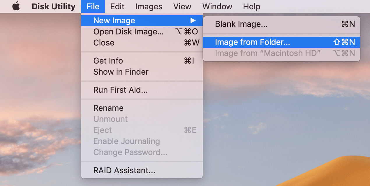 New Image from Folder command