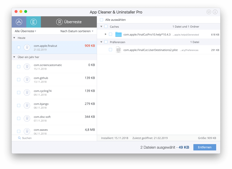 mac programme deinstallieren komplett