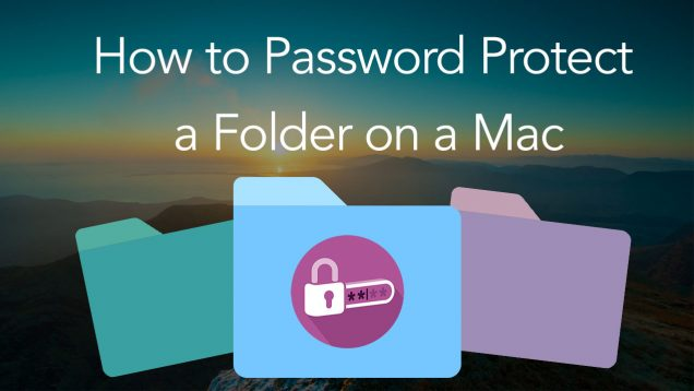 how to create password protected folder
