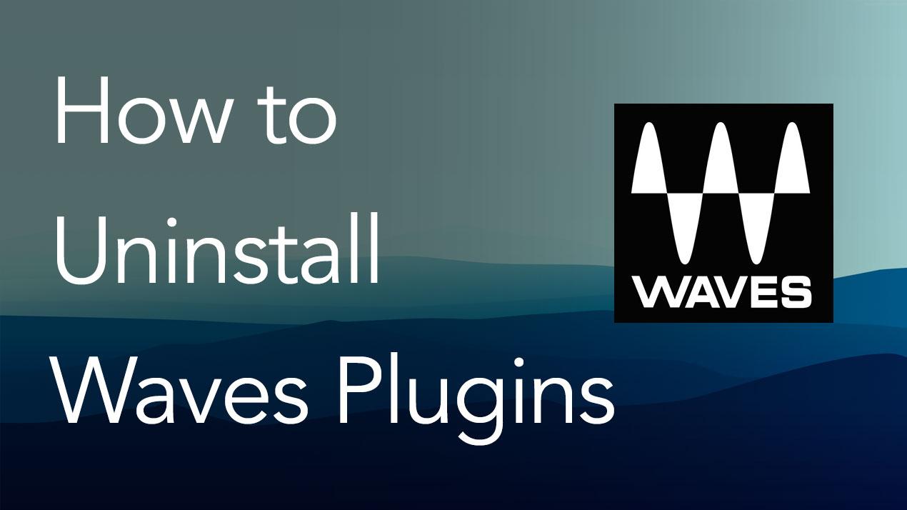 uninstall waves plugins mac