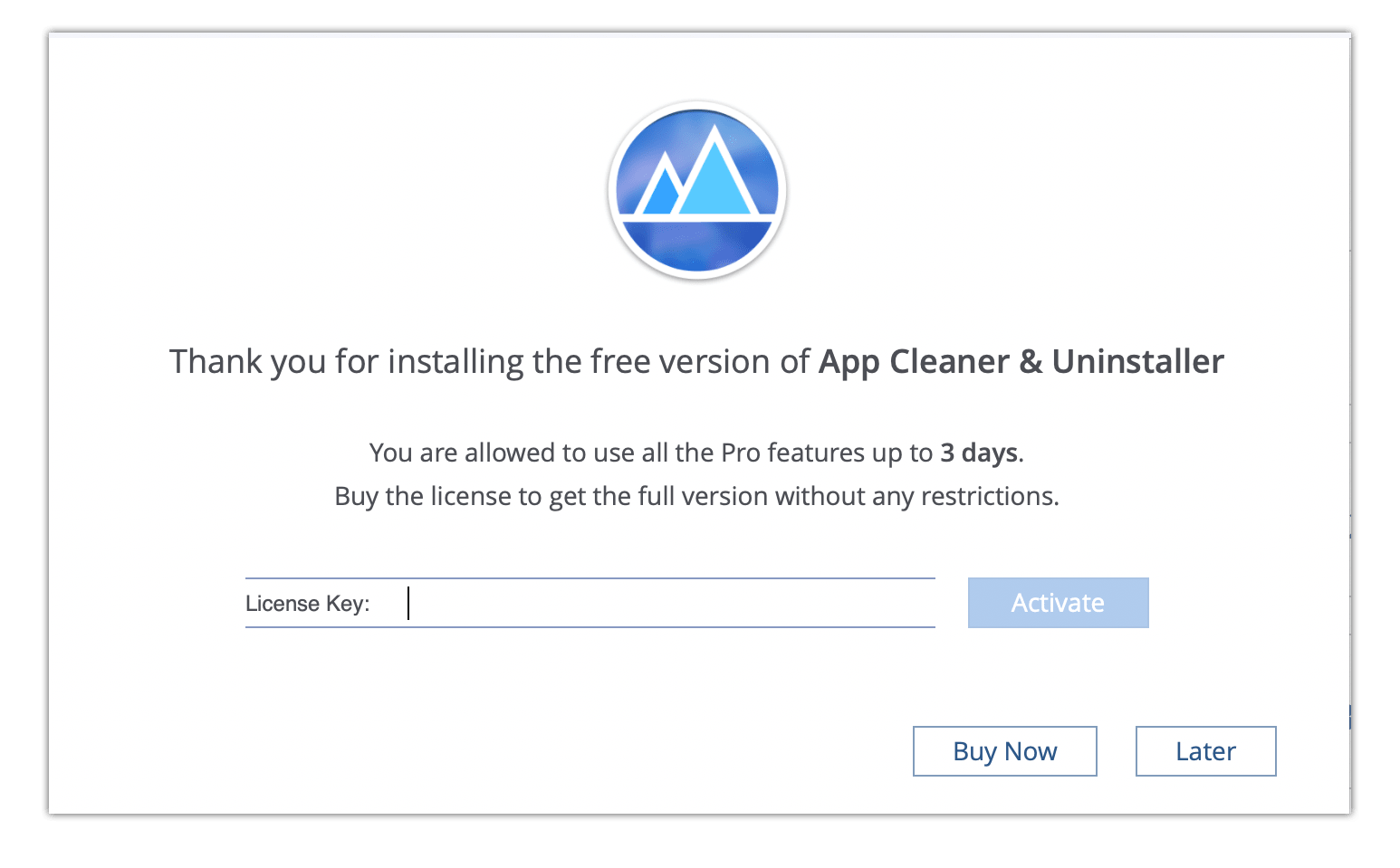 activate license for app cleaner